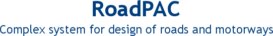 RoadPAC - Complex system for design of roads and motorways